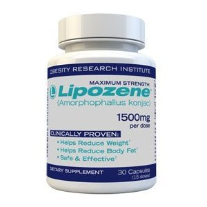 Diet Pills Lipozene - Maximum Strength Fat Loss Formula - 1500mg 30 Capsules,
