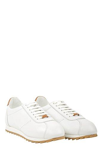 DOUCAL'S - Zapatillas de Piel para hombre blanco Bianco 40