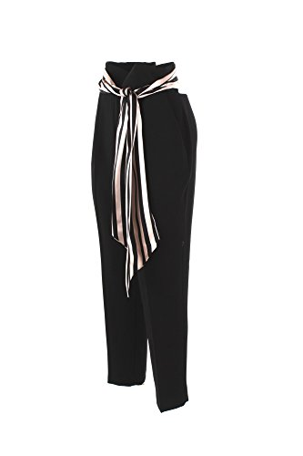 Pantalone Donna Elisabetta Franchi 40 Nero Pa10181e2 Primavera Estate 2018