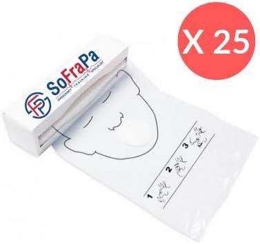 Faceshield didáctico RCP para ventilación, rollo de 36 unidades 25 Rotoli