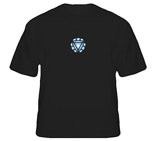 Tony Stark Arc Reactor Chest Piece New Movie T Shirt L Black]()