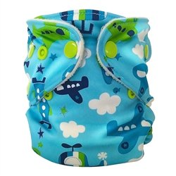 FuzziBunz Adjustable First Year Pocket Diaper - Fly Boy - M/L/Xl - Snap