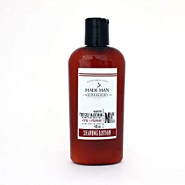 'The Self-Made Man' Citrus+Cedarwood Ultra Creamy & Moisturizing Shaving Lotion – Handmade In U.S.A. (4oz) BEST SELLING SCENT!