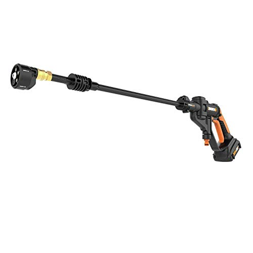 WORX Cordless Hydroshot Portable Power Cleaner, 20V Li-ion ,