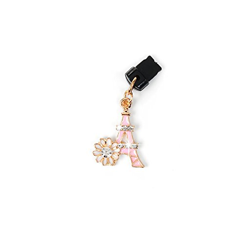 KASOS Dust Plug-Earphone Jack Accessories Bling Shiny Glitter Sparkle Diamonds Rhinestones Gems with Tassel/Cell Charms/Dust Plug/Ear Jack for iPhone Xs Max, for iPhone XR, for iPhone Xs (Phone Charm Under $1)