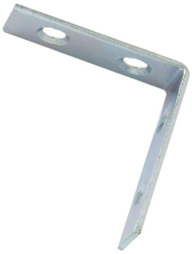 Bulk Hardware BH01108 Bright Zinc Plated Corner Braces Brackets Plates, 40 mm (1.1/2 inch) - Pack of 25