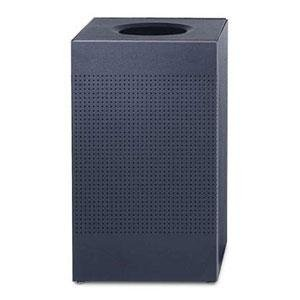Rubbermaid Commercial FGSC18ERBTBK Silhouette Designer Wastebasket, Square Open Top, 40-gallon, Black -