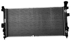 TYC 2728 Pontiac/Buick 1-Row Plastic Aluminum Replacement Radiator (2002 Chevy Venture Radiator)