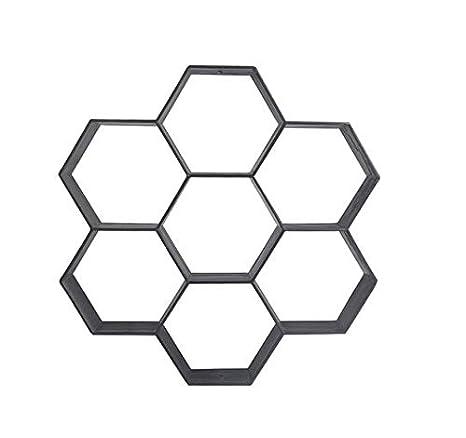 Malayas Molde para Cemento Molde para Hormigón Hacer Pavimientos Caminos Jardín Patio Balcón Terraza Material de Plástico Resistente Forma Hexagonal ...