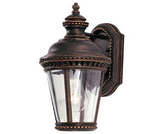 Feiss OL1900GBZ-LED Castle LED Outdoor Patio Wall Lantern, 1-Light, 14watts, Bronze (7''W by 12''H)