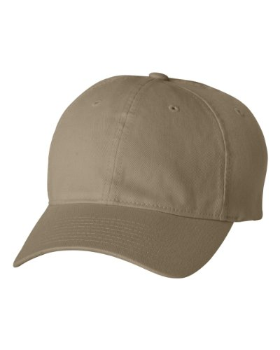 Flexfit/Yupoong Men's Low-Profile Unstructured Fitted Dad Cap, Khaki Small/Medium