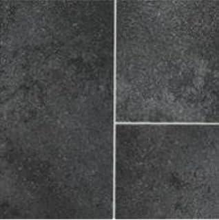 Black tile effect vinyl flooring floor matttroy for Black wood effect lino
