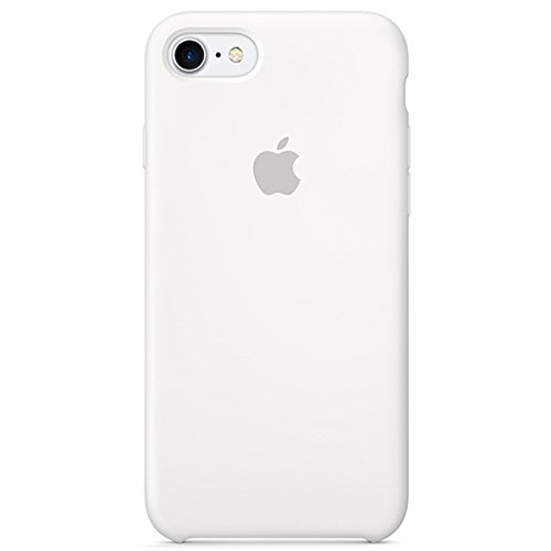 (Dawsofl Soft Silicone Case Cover for Apple iPhone 8 (4.7inch) Boxed- Retail Packaging (White))