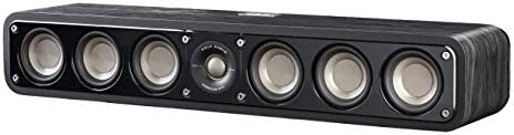 Polk Audio Signature Series S35 Center Channel Speaker 6 Drivers Surround Sound Power Port Technology Detachable Magnetic Grille,Black
