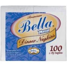 Marcal Bella Dinner Napkin (Bella Dinner Napkin, 1 1 2 Ply, 100 Per Pack -- 30 Packs Per Case)