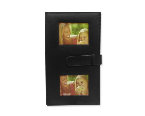 300 Pockets Vintage PU Leather Cover 5-inch 6-inch Photo Album for Fujifilm Instax Wide 210/ Instant Wide 200/ Fujifilm FP 3000B/ Fujifilm FP100C Films - Black