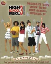 High School Musical 3--Senior Year--WALL ART CARDS--Decorate Your Room with High School Musical 3! Fun quizzes from the movie on the back of each card!