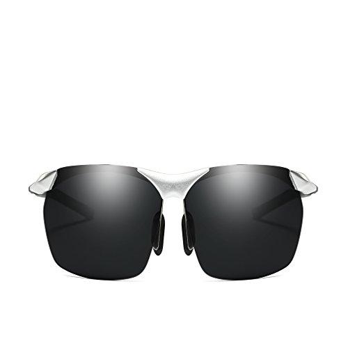 Deportivas Gafas para LUHUIYUAN Polarizadas De Aluminio De De De Gray Magnesio Conducción Hombres Silver Sol XqdwqP