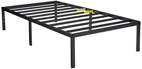 Make Bed Complete (Zinus Yelena 14 Inch Classic Metal Platform Bed Frame with Steel Slat Support / Mattress Foundation, Twin)
