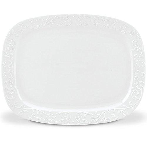 Lenox Opal Innocence Carved Oversized Platter, White