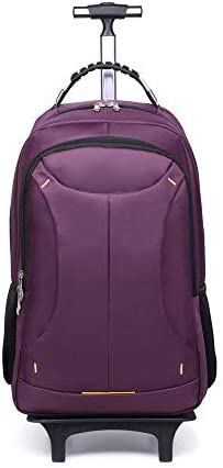 トロリーバックパック大容量ショルダーレバーコンピュータバックパック旅行バックパック、3つの使用の男性と女性旅行バックパックスーパー軽量旅行キャビンハンドキャリースーツケーススーツケース2キャリー付き