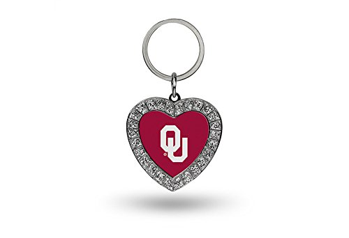 Oklahoma Sooners Ncaa Key (NCAA Oklahoma Sooners Rhinestone Heart Keychain)