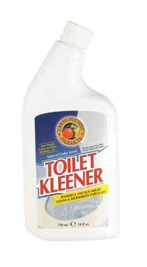 Earth Friendly Products Toilet Kleener, Cleans and Deodorizes Porcelain, Natural Cedar Scent, 24 Ounces (Pack of 12)