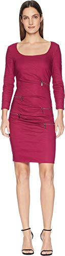 Nicole Miller Women's Zip Dress Mulberry 0