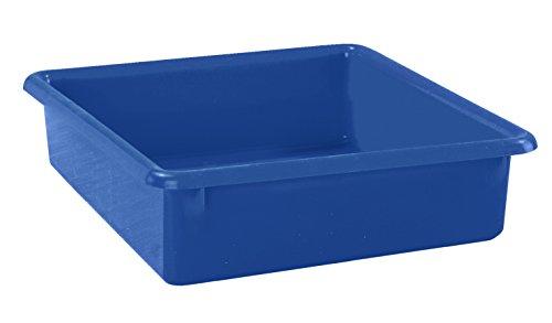 (School Smart Flat Storage Tray, 13 x 10-1/2 x 2-7/8 Inches, Blue )