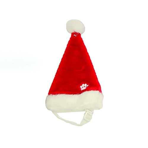 Outward Hound Kyjen  30037 Dog Santa Hat Holiday and Christmas Pet Accessory, Medium, Red Holiday Santa Hat