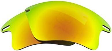 Kit de lentilles compatible avec OAKLEY FAST JACKET XL Polarisé Or & Blanc