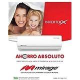 Mini Split Mirage Inverter X frio/calor 110v 12,000 btus