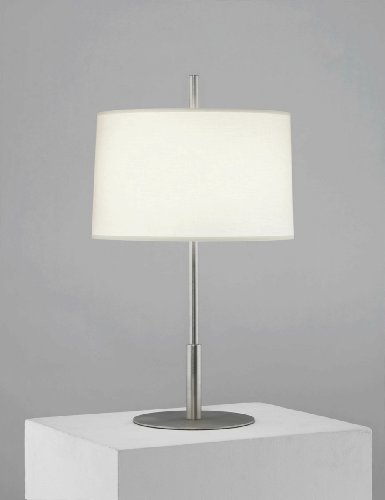 Robert Abbey S2184 Lamps with Fondine Fabric Shades, Stainless Steel Finish ()