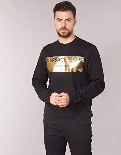 Versace Jeans Feuille d or Noir à col Ras du Cou B7gsb7 F7 - Noir - Small   Amazon.fr  Vêtements et accessoires ccd152c7f32