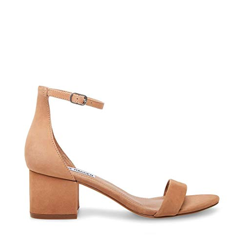 Steve Madden Women's Irenee Dress Sandal, Tan Nubuck, 7.5 M US (Steve Madden Ankle Wedges)