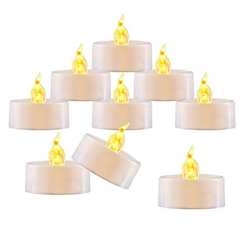 "(Amagic Small Led Tealight Candles Bulk - Battery Operated Tea Lights with Flickering Amber Yellow Glow, Quality Fake Led Tealight Candles for Holiday, Wedding, Party, Votive(Pack of 30, Dia 1.4""))"