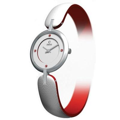 Obaku Harmony Womens Watch - White Band / White Face - V106LCCRWS-045