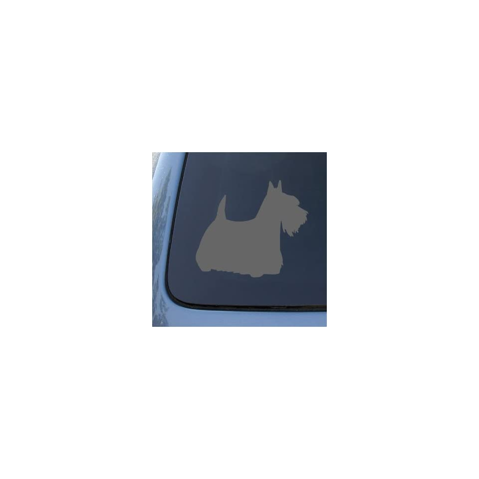 SCOTTISH TERRIER SILHOUETTE   Dog Decal Sticker #1555  Vinyl Color Silver