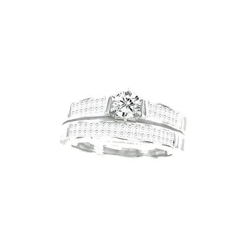1.50CTW DIAMOND 0.40CT ROUND CENTER BRIDAL SET (0.4 Center Round Ct)
