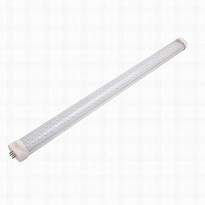 MariaP AC 85-265V 22W GY10 6000K Horizontal 4P Connector LED Light Tube Transparent Cover