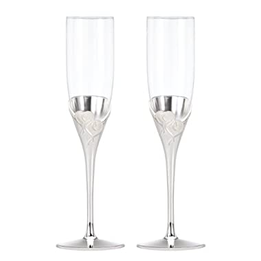 Lenox True Love Glass Flute Pair