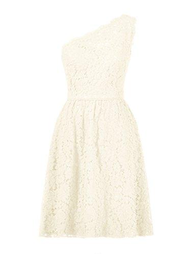 Ivory Shoulder One Evening Short Dress Alicepub 2017 Lace Bridesmaid Gown Prom Floral 7P0qdw