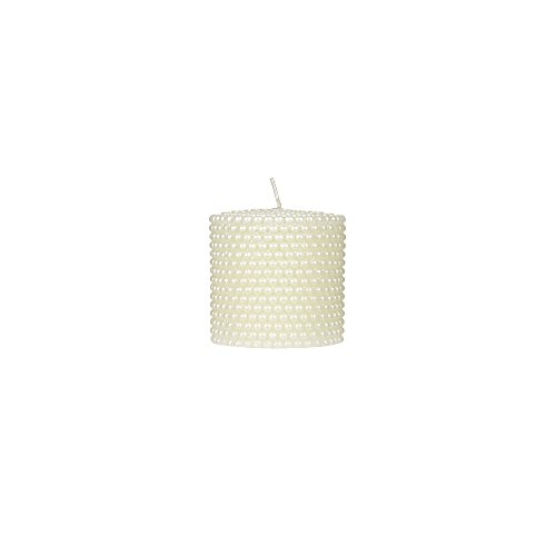 Dot Unity Candle Set (Mega Candles Unscented Ivory Round Pearl Pillar Candle | Hand Poured Premium Wax Candles 3