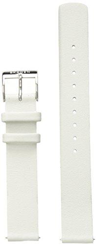 Skagen SKB2052 14mm Leather Calfskin White Watch Strap - Interchangeable Strap