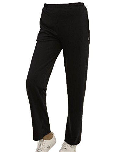 Pantalon de survêtement/patalon de jogging/ pantalon de sport pour femme noir, taille 20-54 de hajo