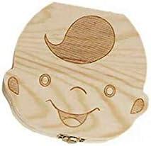 CloverUS Creative Baby Teeth Box Saver Storage Box Wooden Children Teeth Holder Organize Box