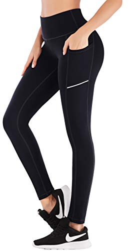 IUGA High Waist Yoga Pants for Women, Tummy Control Leggings with Pockets, 4 Way Stretch Workout Leggings for Women