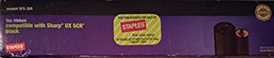 Staples compatible with Sharp UX 5cr fax ribbon Model# SFS-30R 50 m UPC# 718103034197