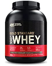Optimum Nutrition Gold Standard 100% Whey Protein Powder, Double Rich Chocolate, 2.27 Kg, Packaging May Vary
