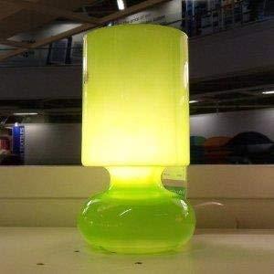 IKEA GLASS TABLE LAMP, GREEN